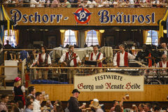 Braeurosl at Oktoberfest in Munich, Germany, 2015 Stock Photo