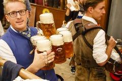 Braeurosl på Oktoberfest i Munich, Tyskland, 2015 arkivfoto
