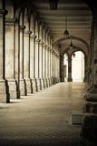 Braga arcade. Arcades in a historic building in Braga, Portugal Royalty Free Stock Photo
