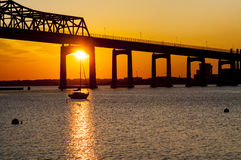 Braga Bridge sunset Royalty Free Stock Photography