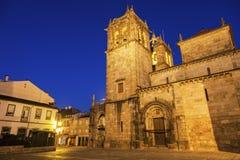 Braga Cathedral at dawn Stock Image