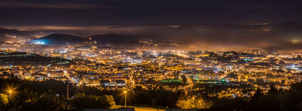 Braga cityscape at night Stock Images