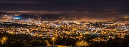 Braga cityscape at night Stock Images