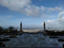 Braga desde el santuario de Sameiro Fotos de archivo
