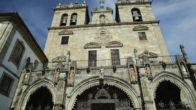 Braga-Kathedralenfassade stock video footage