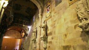 Braga-Kathedralengang stock footage