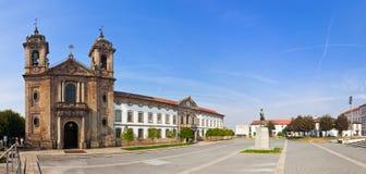 Braga, Portugal Église de Populo Architecture de Mannerist, rococo et néoclassique photographie stock libre de droits