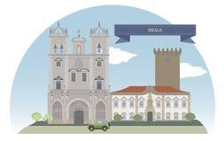 Braga Portugal royaltyfri illustrationer