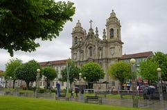 BRAGA, PORTUGAL - APRIL 24: De Basiliek Congregados in het centrum van Braga, Portugal op 24 April, 2015 Het werd ontworpen door  Stock Afbeeldingen