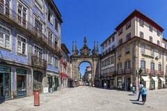 Braga Portugal Arco da Porta Nova Gate Royaltyfri Bild