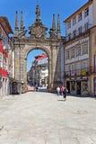 Braga, Portugal Arco a Dinamarca Porta Nova Gate Imagem de Stock