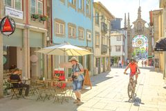 Tourism in Braga city Royalty Free Stock Image