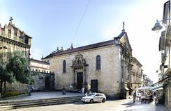 Braga, Portugal. August 14, 2017: Side of the church called de l royalty free stock images