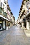 Braga, Portugal 14 augustus, 2017: Commerciële straat in cente stock afbeeldingen