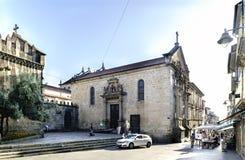 Braga, Portugal 14 augustus, 2017: Kant van de kerk genoemd DE l royalty-vrije stock afbeeldingen