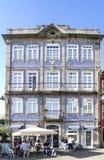 Braga, Portugal 14 augustus, 2017: Typisch oud rijtjeshuis met a royalty-vrije stock fotografie