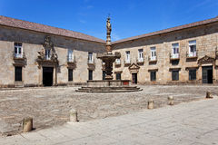 Braga, Portugal. Baroque Castelos Fountain in Paco Square Royalty Free Stock Image