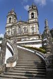 Braga, Portugal Bom Jesús hace el santuario de Monte Foto de archivo
