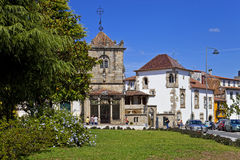 Braga, Portugal. The Coimbras House (right) and Coimbras Chapel (left) Royalty Free Stock Photography