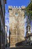 Braga, Portugal Mantenha do castelo de Braga Fotos de Stock Royalty Free
