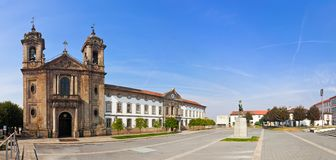 Braga, Portugal. Populo Church. Mannerist, rococo and neoclassical architecture.  Royalty Free Stock Photography