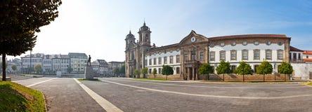 Braga, Portugal. Populo Church. Mannerist, rococo and neoclassical architecture.  Stock Photos