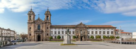 Braga, Portugal - Populo Church. Mannerist, rococo and neoclassical architecture Royalty Free Stock Image