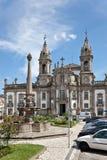 Braga, Portugal. Sao Marcos Hospital Church. Braga, Portugal - July 27, 2015: Sao Marcos Hospital Church. 18th century baroque architecture Royalty Free Stock Image
