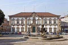 Braga, Portugalia Braga urzędu miasta budynek Obraz Royalty Free