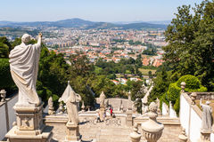 Braga seen from Bom Jesus Do Monte Royalty Free Stock Photography