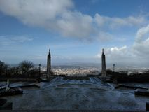 Braga sinds Heiligdom van Sameiro stock foto's