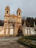 Braga-Stadt, Portugal - ein schöner Platz stockbild