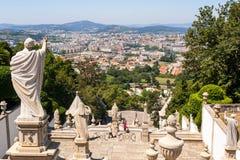 Braga visto de Bom Jesus Do Monte Fotografia de Stock Royalty Free