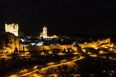 Bragança Castle. View of Bragança Castle at Night Stock Images