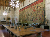 Braganza公爵的宫殿在吉马朗伊什 库存图片