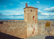 Braganza Castle Wall stock image