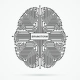 bragg brainwaves иллюстрация штока