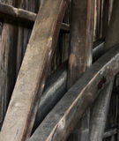 Bragueros de la madera Imagen de archivo libre de regalías