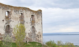 Brahehus castle ruin. At the Shores of Vattern in Sweden Stock Images