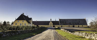 Brahetrolleborg castle west of Faaborg, Denmark. Brahetrolleborg is a castle about 10 kim north-west of Faaborg on the island of Funen, near the present Korinth royalty free stock photography