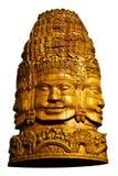 Brahma木头雕塑 库存照片