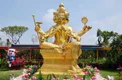 Brahma菩萨在阿尤特拉利夫雷斯泰国 库存图片