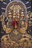 Brahma葡萄酒雕塑  免版税图库摄影