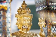 Brahma雕象的断面孔在爆炸以后的被轰炸的 免版税库存照片