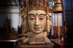 Brahma die Statuenreplik (Thailand-Kultur) Stockfoto