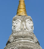 Brahma faces on top of the pagoda Stock Images