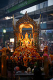 Brahma Statue at Erawan Shrine Stock Images