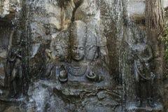 Brahma, Vishnu και Mahesh, ναός Hadshi, μουσείο Sant Darshan, κοντά στο tikona Vadgoan Maval, περιοχή Pune, Maharashtra, Ινδία στοκ φωτογραφία με δικαίωμα ελεύθερης χρήσης