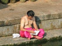 Brahman- Beten Lizenzfreies Stockfoto
