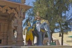 Brahman on elephant Royalty Free Stock Photos